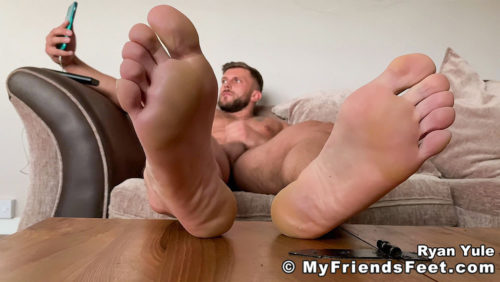 ryan yule naked jerking off couch foot fetish